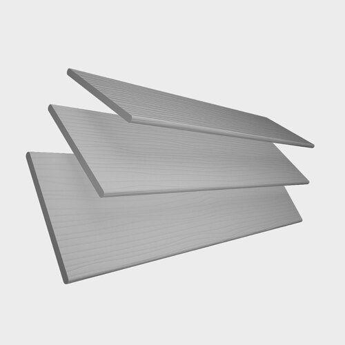 Jalousie Transparent Ebern Designs Farbe: Hellgrau, Größe: 120 cm L x 150 cm B