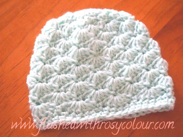 Flushed with Rosy Colour: Tiny Shells Premmie Beanie, free pattern ...