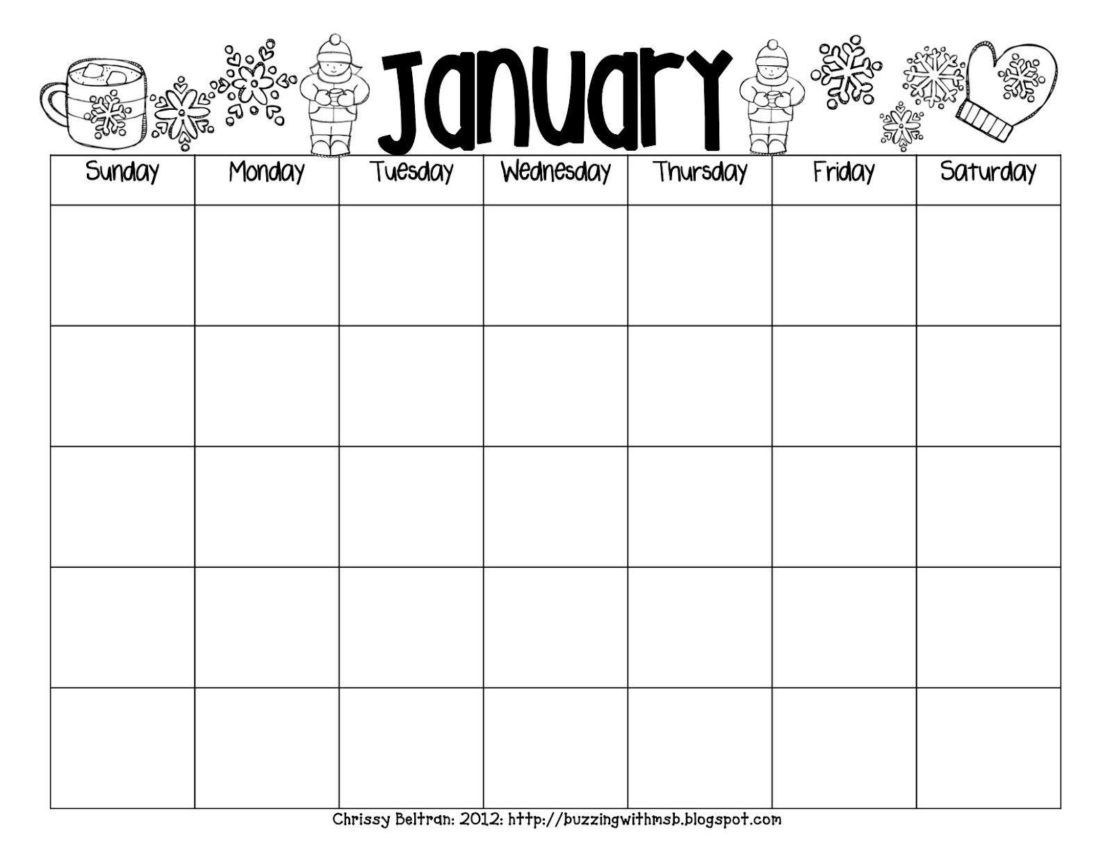 Free Printable Reading Calendar In