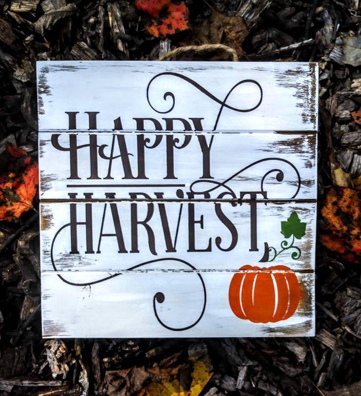 Happy Harvest Pumpkin Sign  Boerderij Decor  Rustiek teken  Herfst Decor  Herfst Happy Harvest Pumpkin Sign  Boerderij Decor  Rustiek teken  Herfst Decor  Herfst