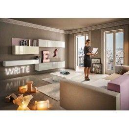 Composition de meuble TV LAGO design   home- libraries   Pinterest ...