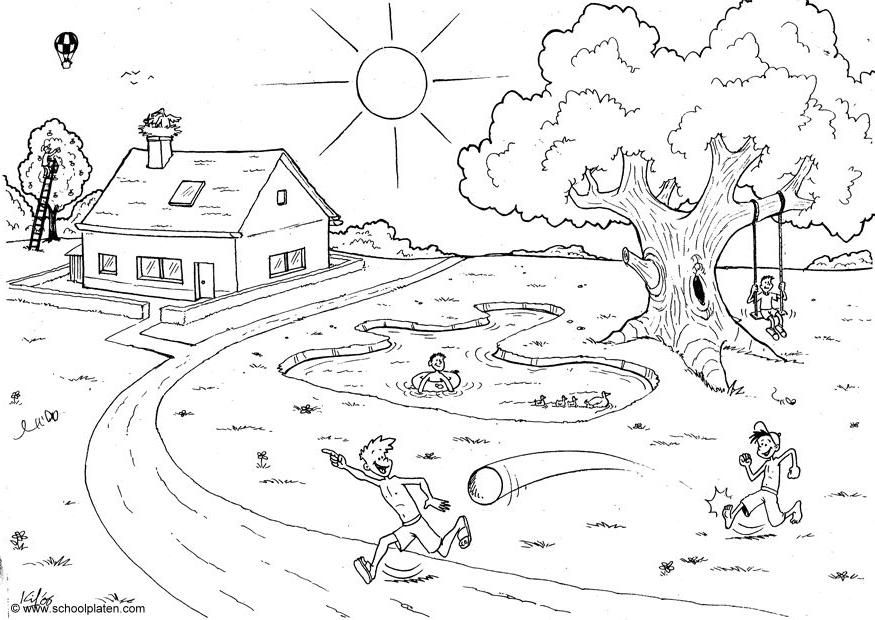 Paisajes Para Ninos De 6 Anos Buscar Con Google Dibujos Para