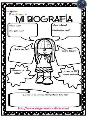 Autobiografía para niños Primaria y Primer Grado | preescolar ...