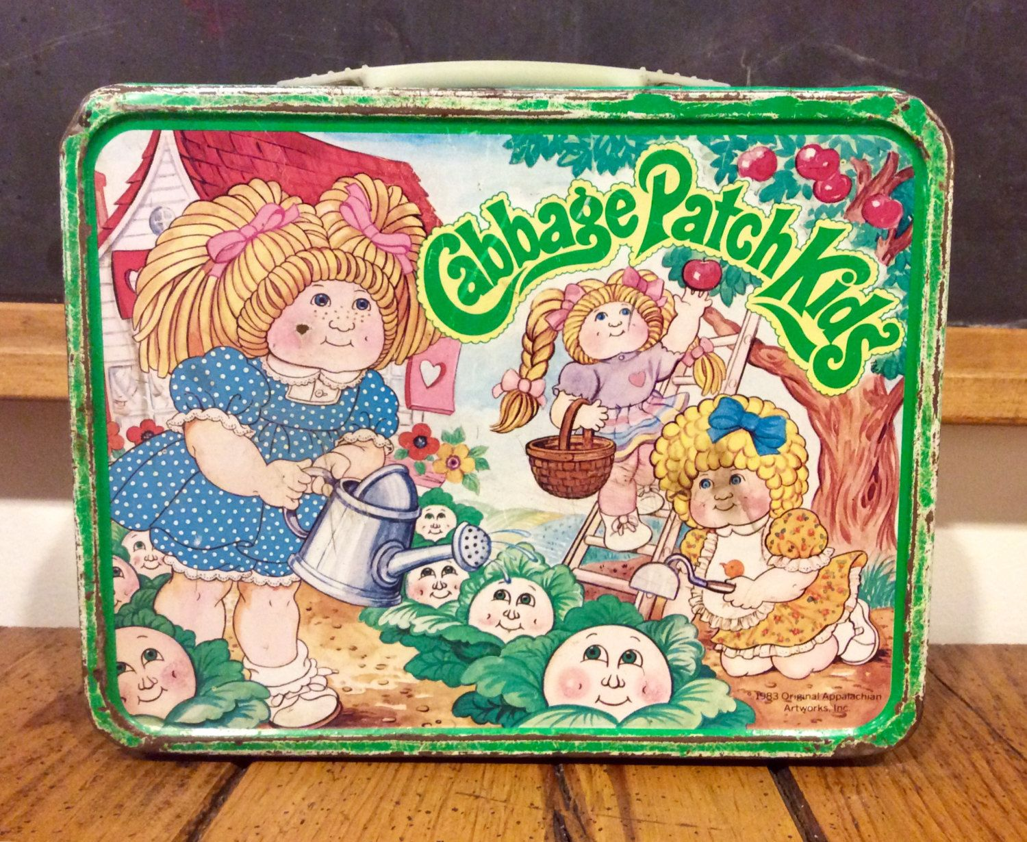 1983 Cabbage Patch Kids Metal Lunch Box Cabbage Patch Etsy Vintage Lunch Boxes Cabbage Patch Kids Metal Lunch Box