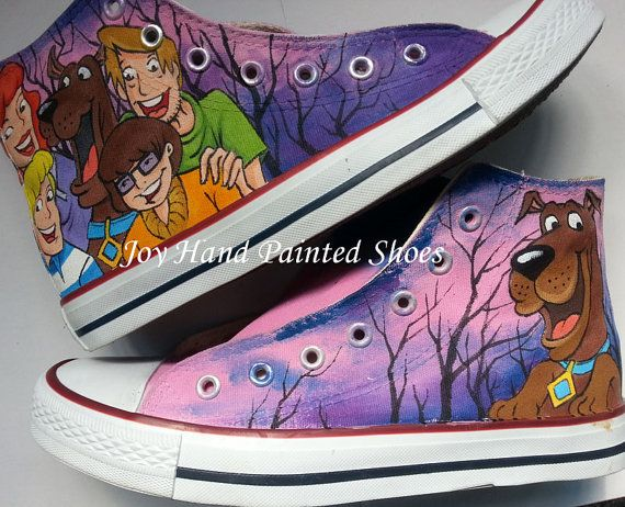 boys converse shoes high tops scooby-doo theme party