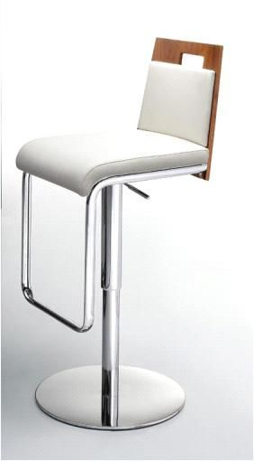santorini white bar stool with walnut veneer back 299 great room