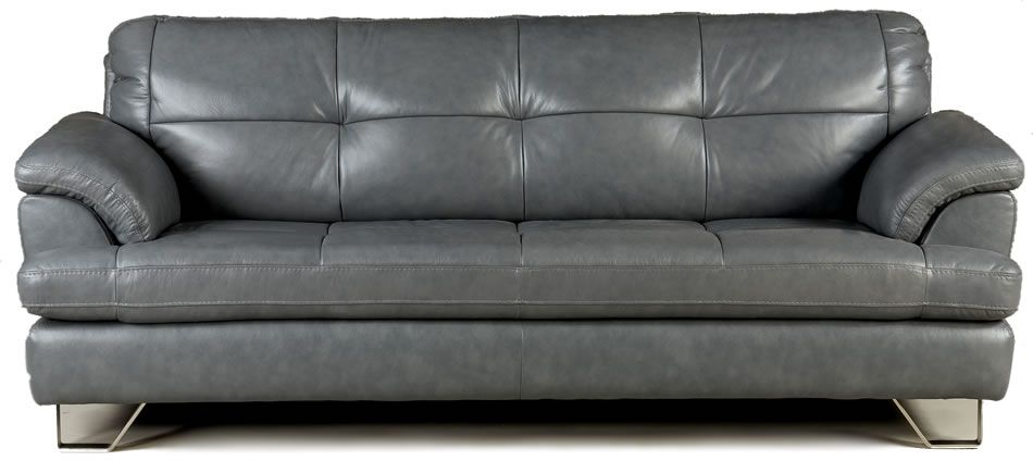 Gray Leather Sofa Roselawnlutheran