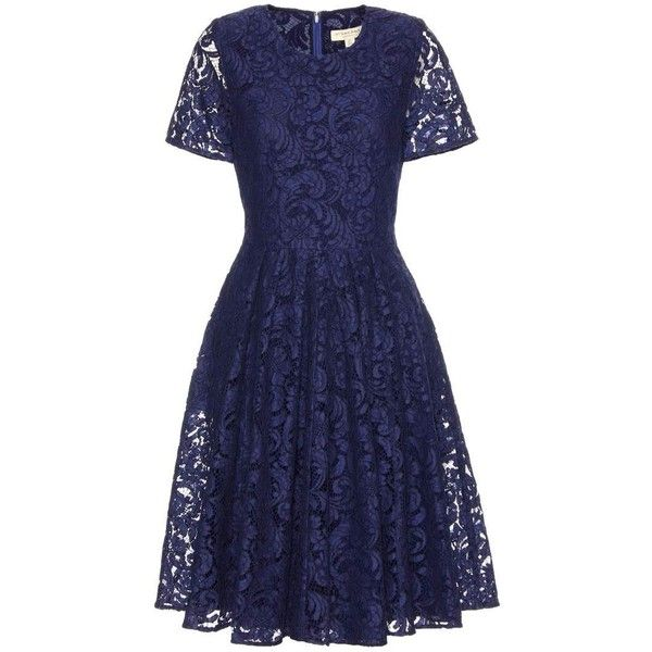 Burberry London Alice Cotton-Blend Lace Dress (81,435 DOP) ❤ liked ...