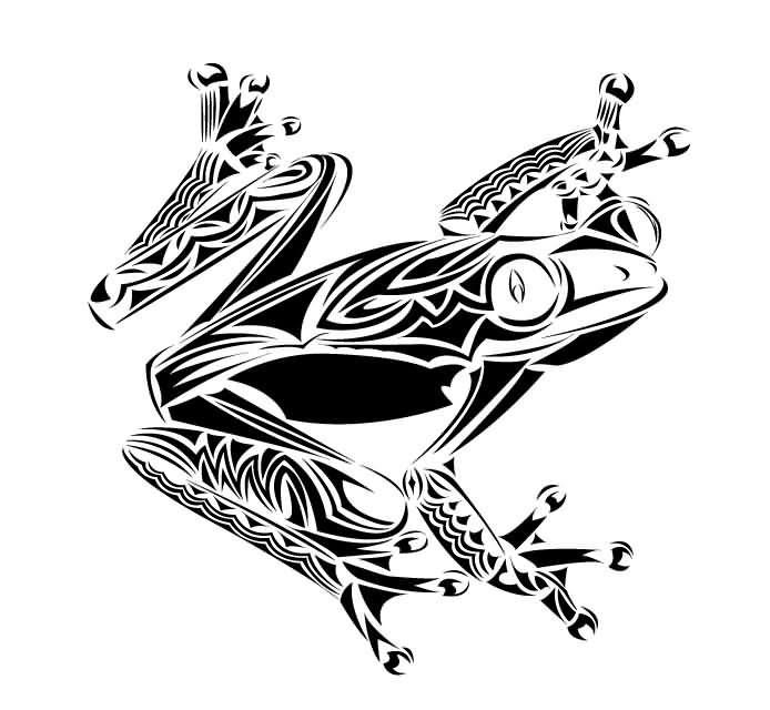 Tribal Froggy Tattoo Stencil | Frogs | Frog tattoos ...
