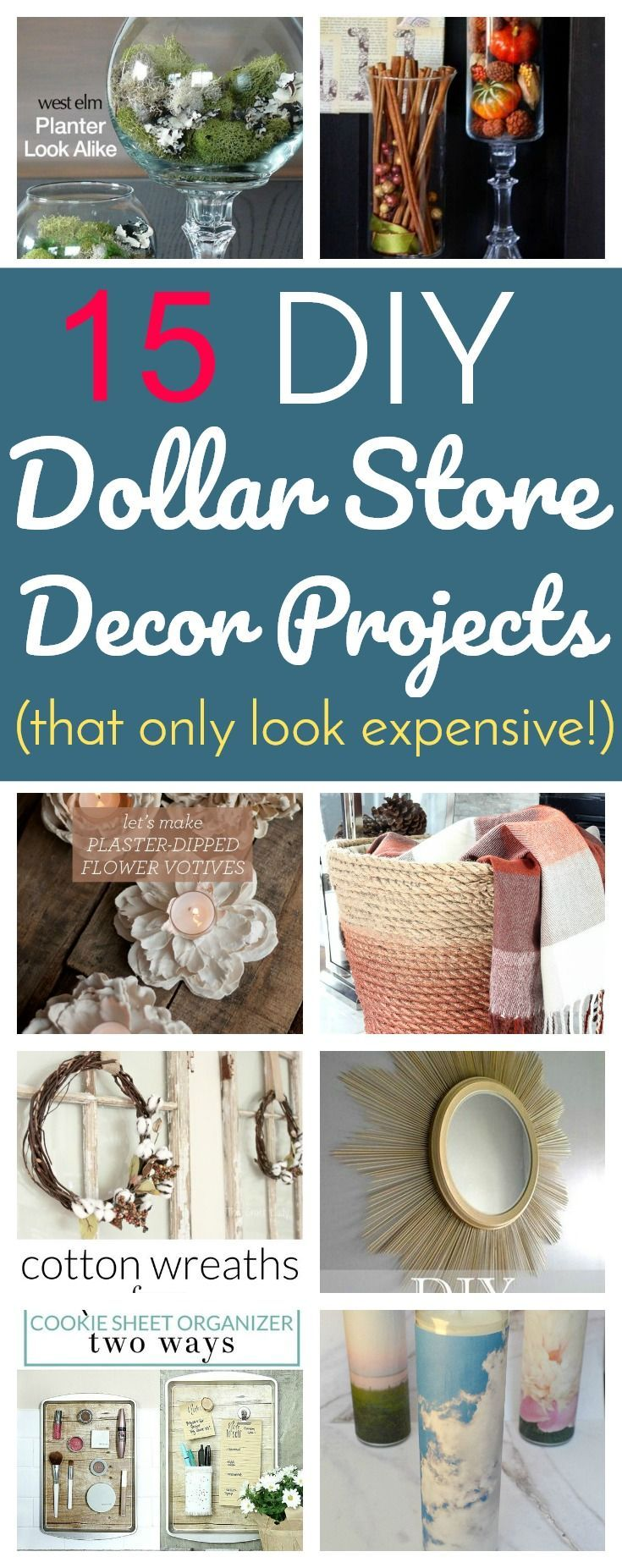 15 DIY Dollar Store Decor Projects That Only Look Expensive...! (via Lifestyle For Real Life) #style #shopping #styles #outfit #pretty #girl #girls #beauty #beautiful #me #cute #stylish #photooftheday #swag #dress #shoes #diy #design #fashion #homedecor