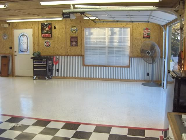 Ceiling covering  cheap  good looking  easy to put up    The Garage. Garage walls    Corrugated metal  This is what gave me the idea of