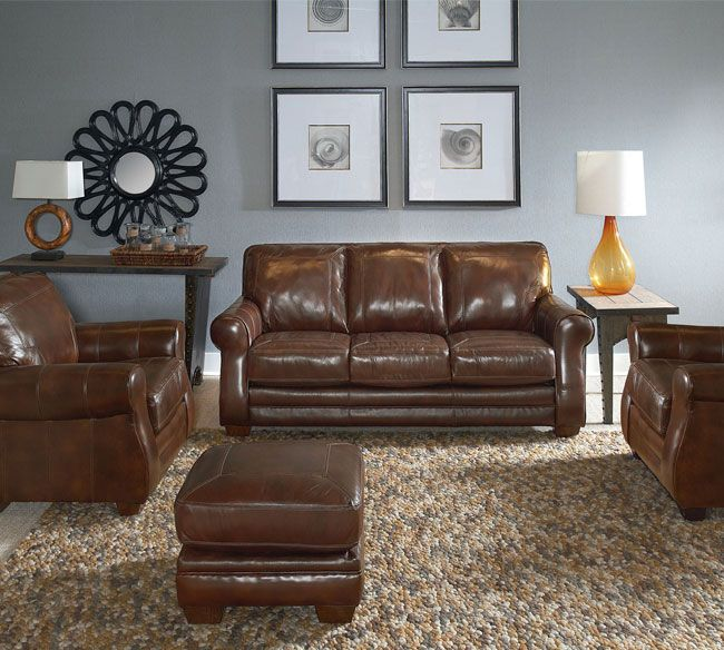 Lane Home Furnishings Leather Sofa And Loveseat From The Bowden Collection Recliner Placement 548 Top Grain Living Room Quick Ship Furniture Sofas Loveseats In Stock
