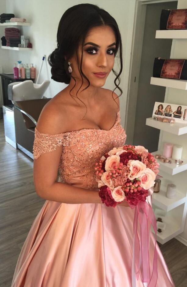 Elegant Prom Dress Lace Prom Evening Dress Off Shoulder Promdress Pink Prom Dress Satin Wedding Prom Dresses Ball Gowns Prom Dresses Ball Gown Ball Dresses Ball Gown Dresses
