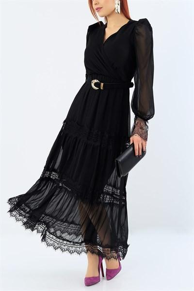 94 95 Tl Gupur Detay Siyah Bayan Elbise 28248b Modamizbir 2020 Elbise Kadin Kiyafetleri The Dress