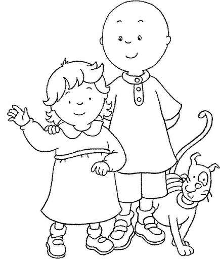Fun Coloring Pages Caillou Coloring pages Cute things for Kids