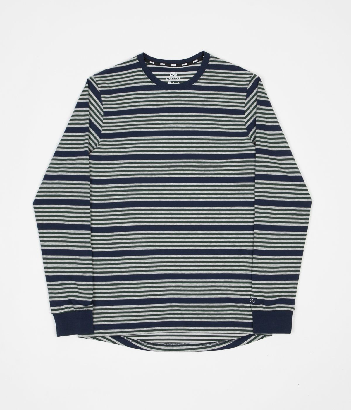 feb51f8e Nike SB Stripe Long Sleeve T-Shirt - Obsidian / Obsidian | Wishlist ...