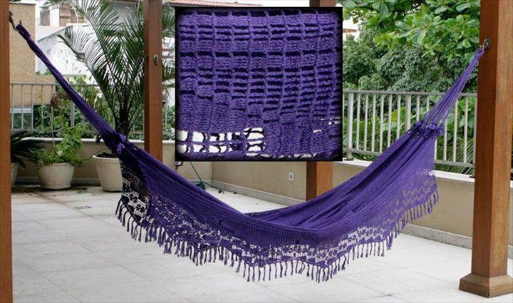 15 Crochet Hammock Free Patterns | Hamacas, Decoración de