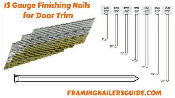 What Size Nails For Door Trim Finish Nailers Nailer Fence Pickets