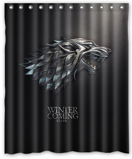 Shower Curtains Game Of Thrones Google Search Shower Curtain Game Of Thrones Decor House Stark