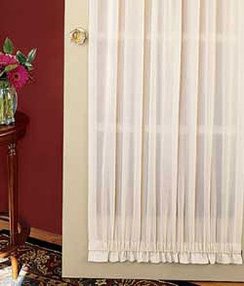 Cotton Voile Door Panel Country Curtains Mom And Dads Living