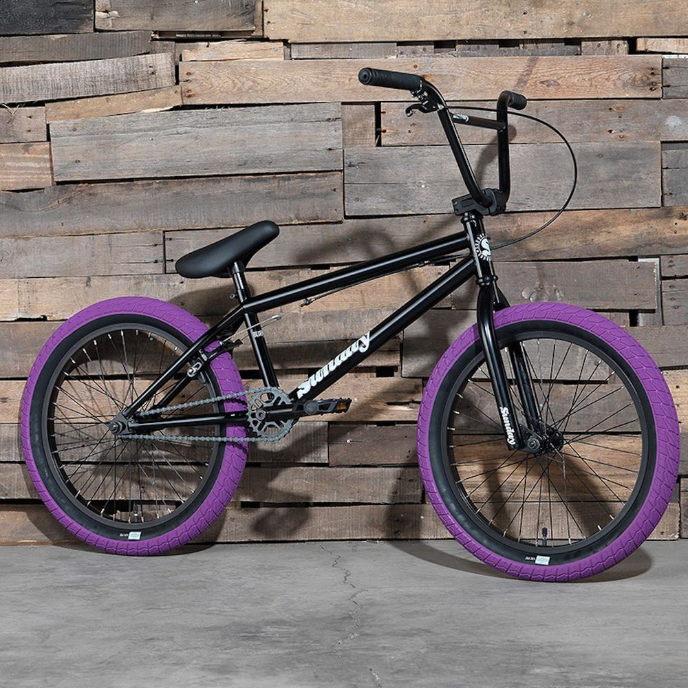 "2017 SUNDAY BIKE BMX BLUEPRINT 20"" BLACK BICYCLE FIT CULT PRIMO KINK FIT HARO #Sunday"