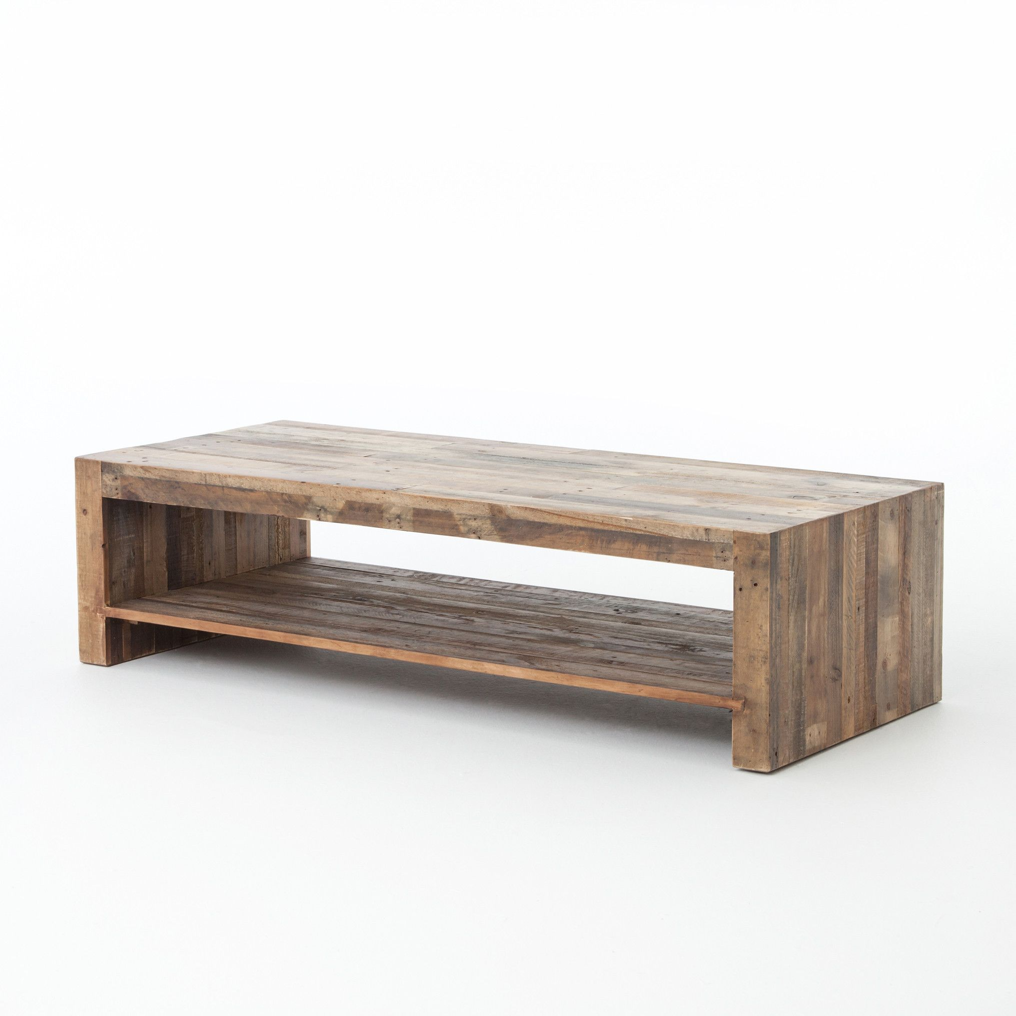 Milan Coffee Table 60 Coffee Table Wood Reclaimed Wood Coffee