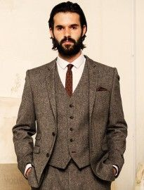 Grooms Brown Tweed Suits Google Search