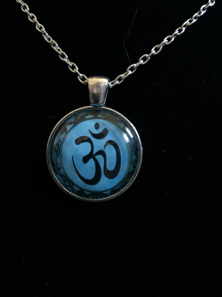 Silver Multicolored Om Symbol Jewelry Necklace Pendant Charm Om