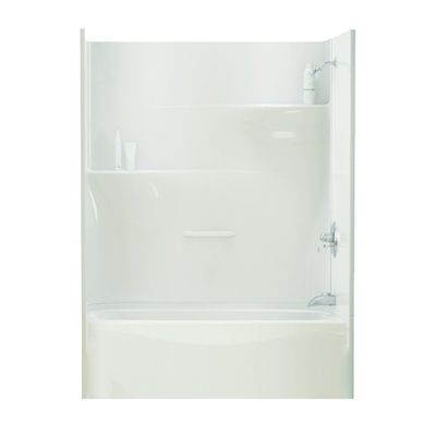 Maax Adesso 30-in x 60-in White Gelcoat/Fiberglass Wall Floor ...
