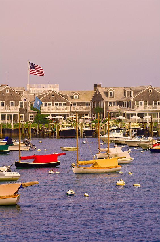Harbor Nantucket Town Nantucket Island Massachusetts Usa With