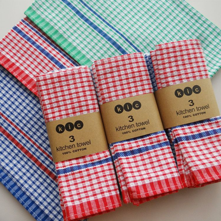 10Pclot Oem High Quality 100% Cotton Dish Cloth Plaid Pano De Adorable Kitchen Towel Inspiration