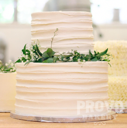 Two-Tier Round Wedding Cakes — Provo Bakery