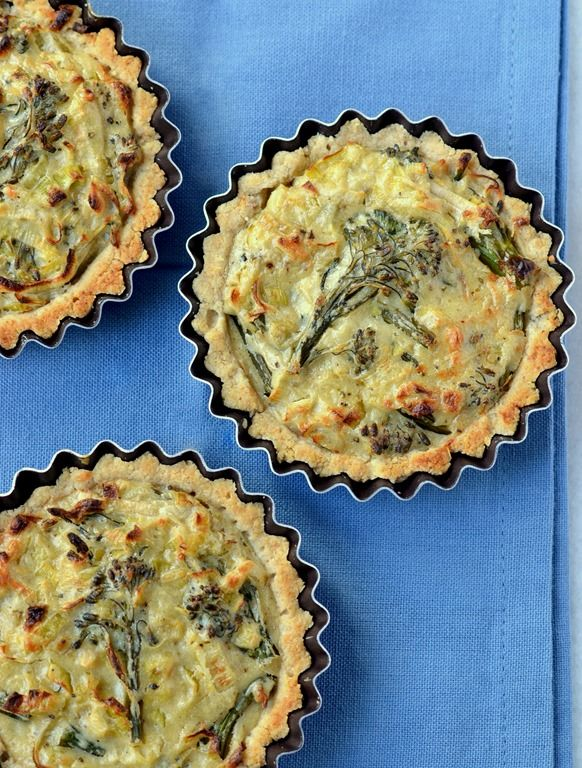 Cheesy Leek Broccoli Tartlets Vegan Gluten Free Soy Free