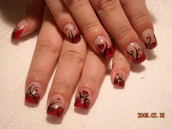 valentines day nail designs valentine holiday nail art designs family holiday - Valentine Design Nails