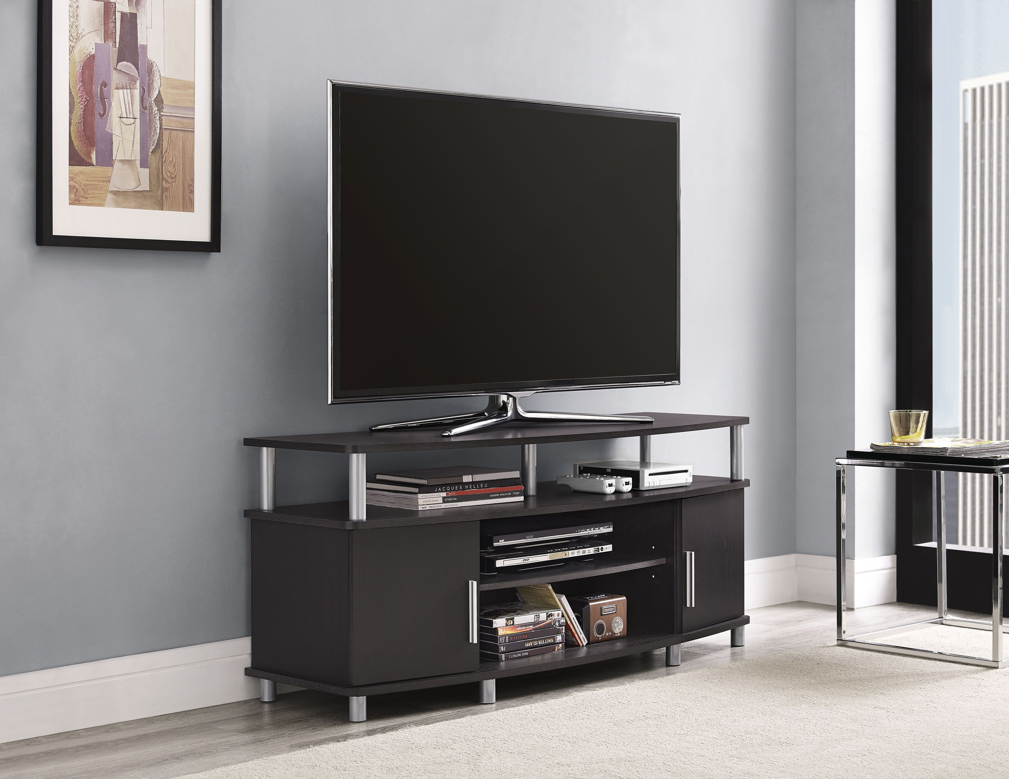 Dorel Home Furnishings Carson Tv Stand Multiple Colors Black Red
