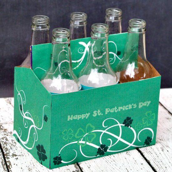 St. Patrick's Day Soda Bottle Printable