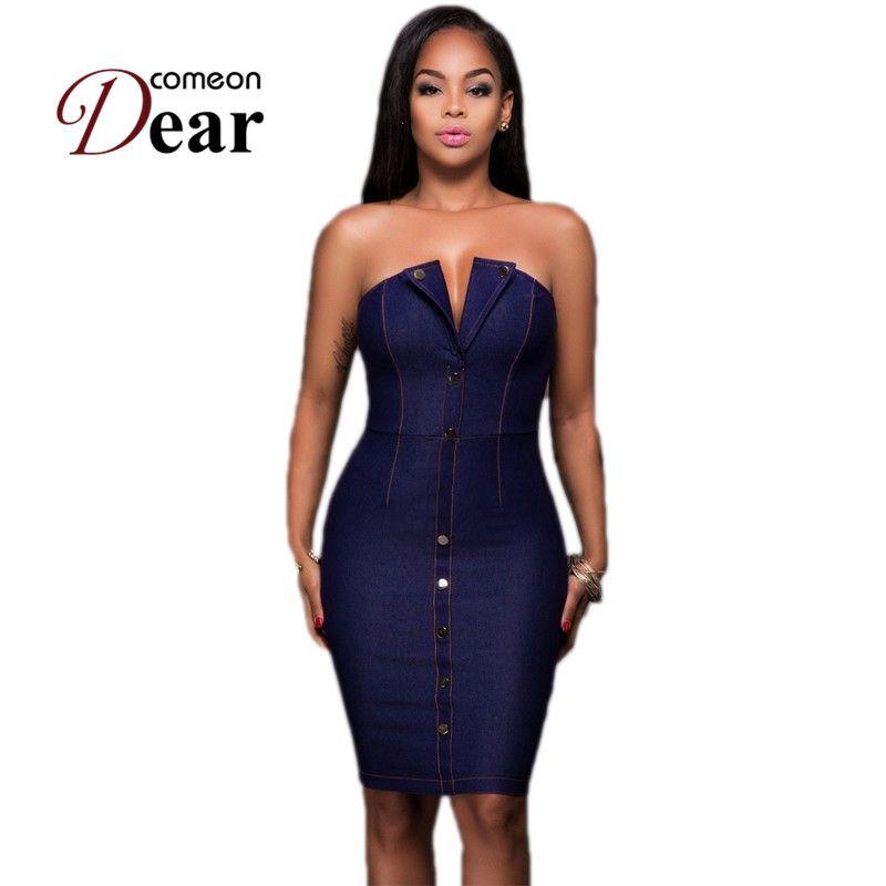 Sexy jean dress