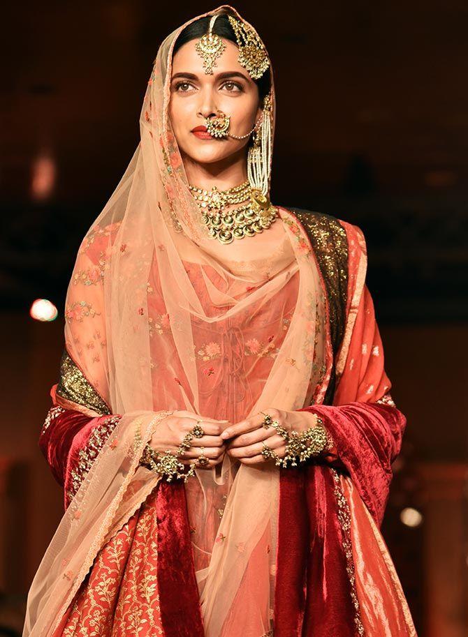 Bajirao Mastani Indian Bridal Wear Indian Bridal Outfits Indian Bridal