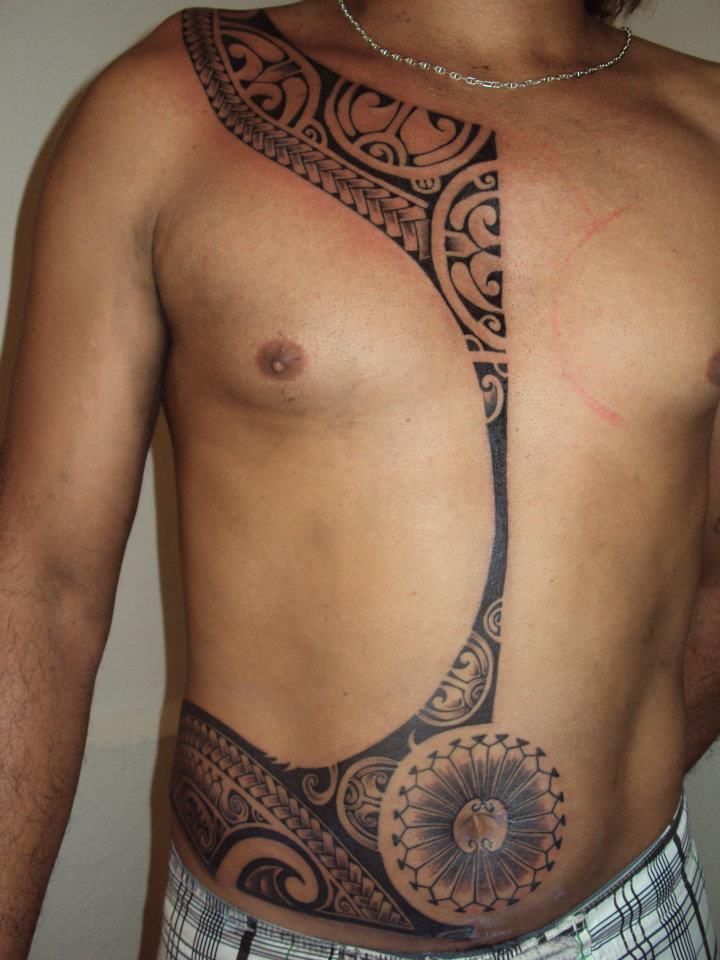 d6f24b9f9de81 black ink tribal tattoos on chest and neck | social media for ...