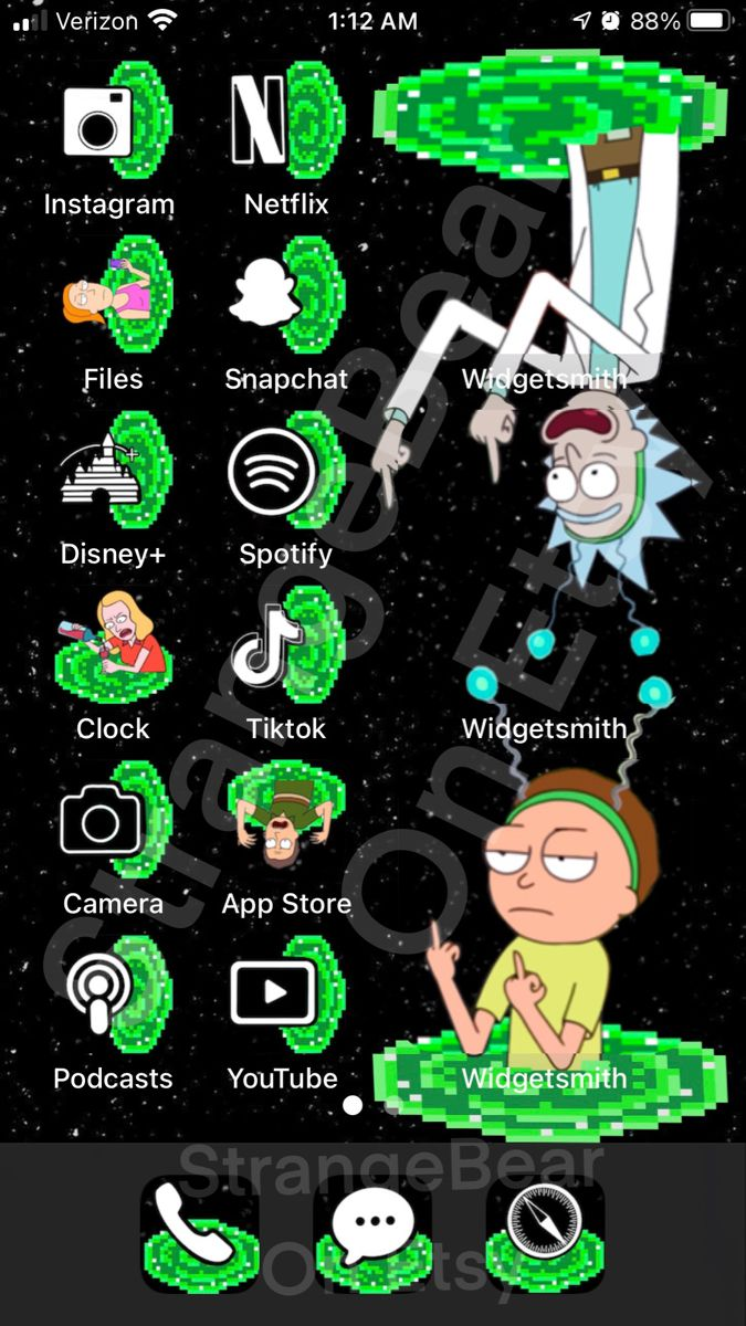 Rick And Morty Home Screen : morty, screen, Morty, Screen, Iphone, Wallpaper, Iphone,, Homescreen