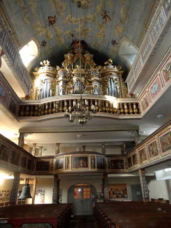 Evangelische Kirche in Ebersbach, Oberlausitz.