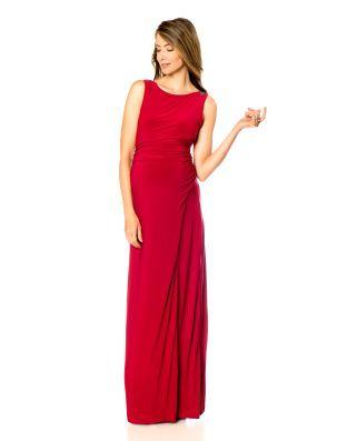 3039f3a209074 LAUNDRY by Shelli Segal Sleeveless Drape Maternity Gown | Maternity ...