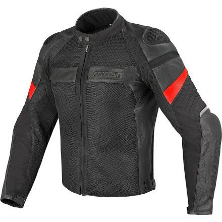 Dianese Air Frazer Tex Pelle Black Jaket Jaket Motor