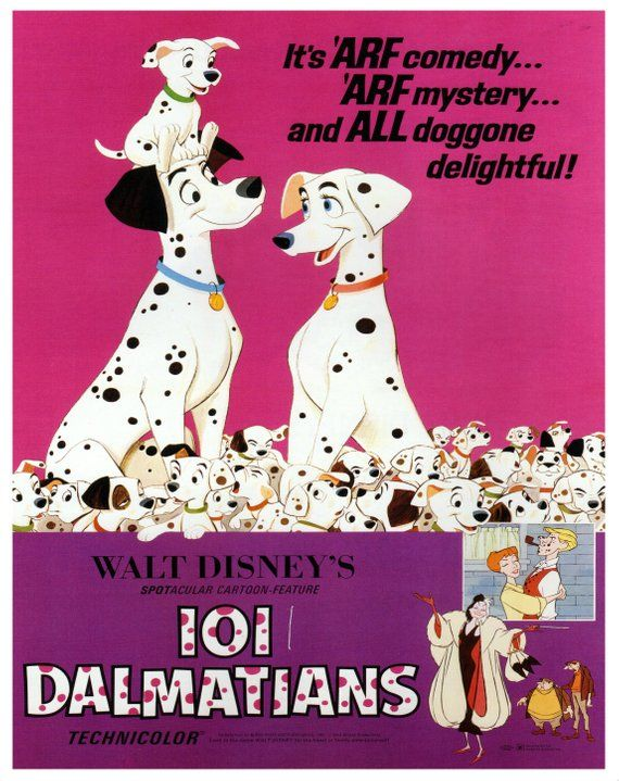 Vintage Disney Poster Print 1969 Pmd One Hundred And One