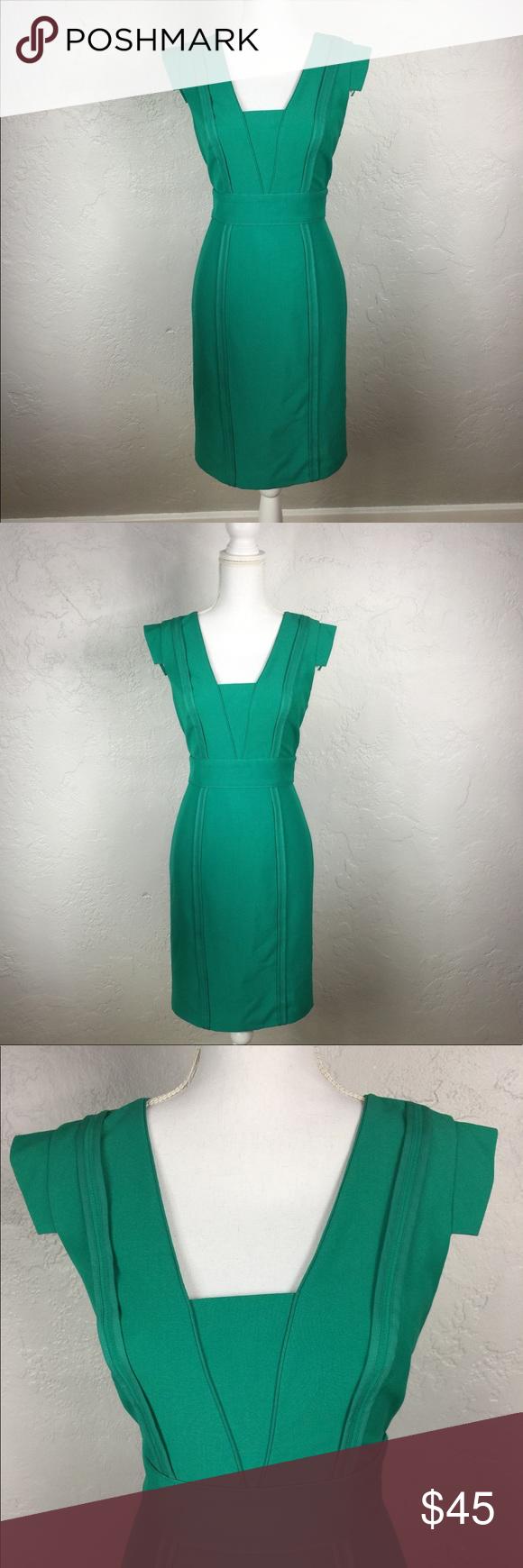 Nwt Vince Camuto Viridian Green Sheath Dress Sheath Dress Vince Camuto Dresses [ 1740 x 580 Pixel ]