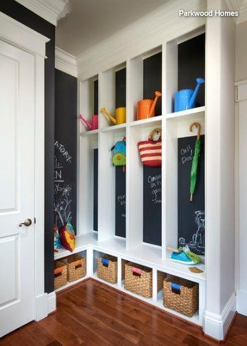 Eine Garderobe Kinder Eingang Nutzen Sie Eine Ecke Um Einen