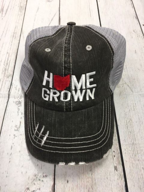 3e72d5eb Home Grown Ohio (Scarlet Ohio) Trucker Hat, Distressed hat, beach ...