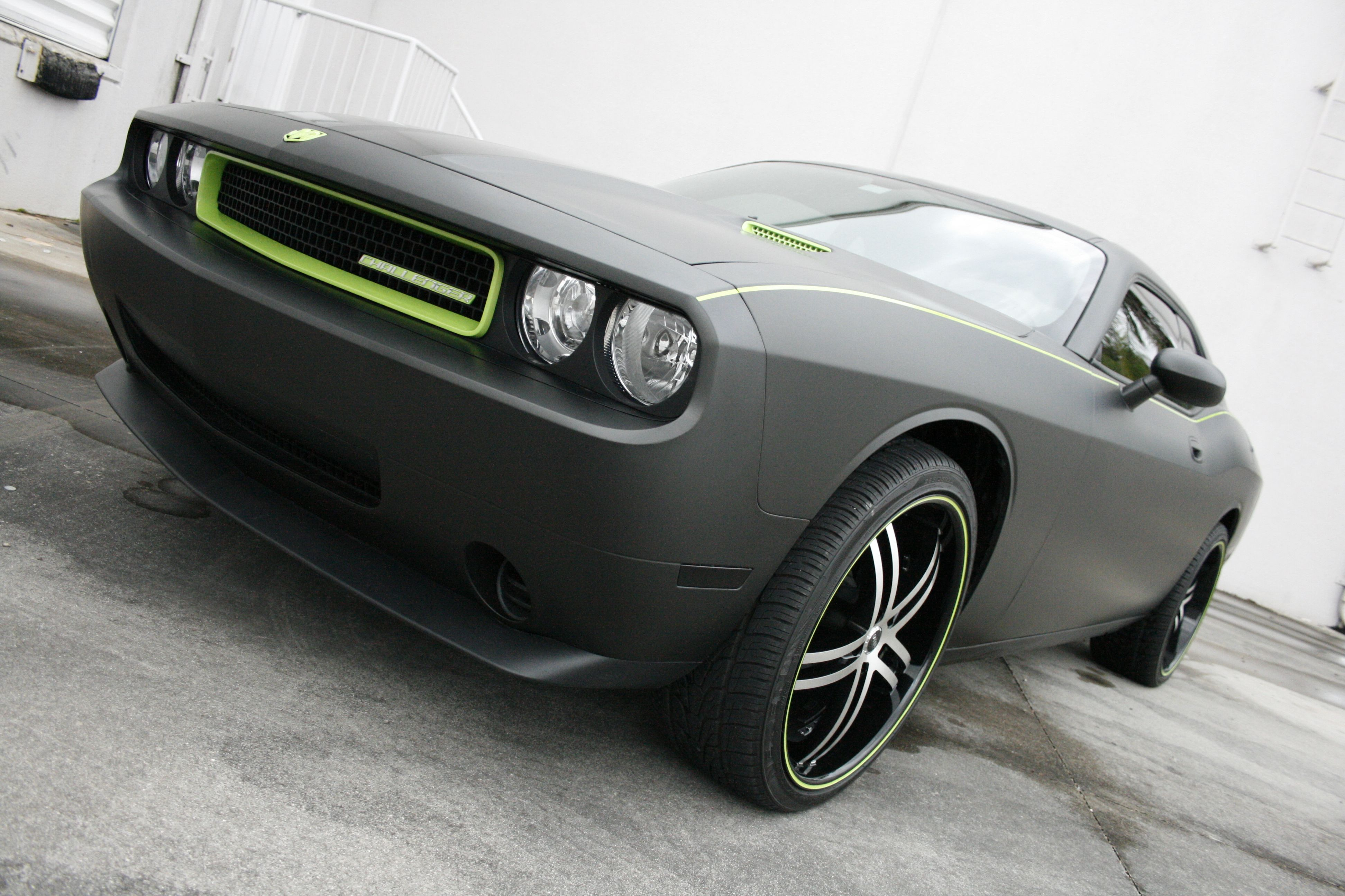 Custom Dodge Challenger 3M Scotchprint 1080 Matte Black Vehicle ...