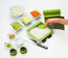 An easy sushi-making kit that looks like a beautiful board game.