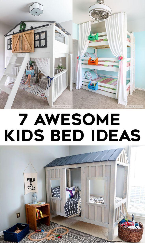 7 Awesome DIY Kids Bed Plans Bunk Beds & Loft Beds Kid